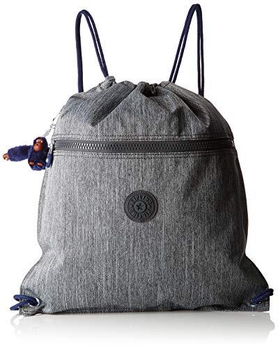 Kipling SUPERTABOO Bolsa de deporte infantil, 45 cm, 15 liters, Gris (Ash Denim Bl)