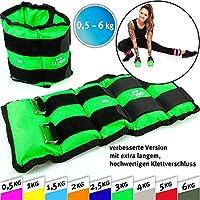 C.P. Sports Puños de peso, pesa pies y muñeca, crossfit, fitness, yoga, artes marciales, aeróbicos, gimnasia 2X 0,5kg – 2X 1kg - 2X 1,5kg - 2X 2kg - 2X 2,5kg - 2X 3kg-2x 4kg-2x 5kg-2x 6kg (1,0)