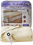 Dreamland Intelliheat fast heat up premium soft fleece electric underblanket single, electric blanket 150 x 80 cm, elasticated straps, 1 control, 6 temperature settings and timer, extra foot warmth