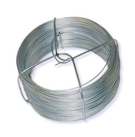 Toolzy 100079 50 m Bindedraht Draht Silber Verzinkt Gartendraht Blumendraht Pflanzendraht Basteldraht Wickeldraht