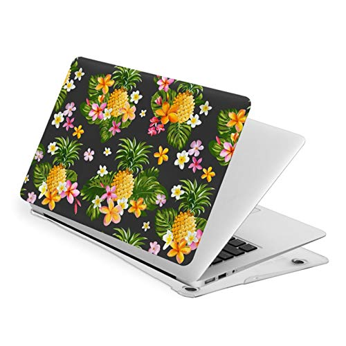 MacBook Pro 13 Inch Case Pineapple and Tropical Flowers Hard Laptop Shell Case Cute Protective Laptop Cover