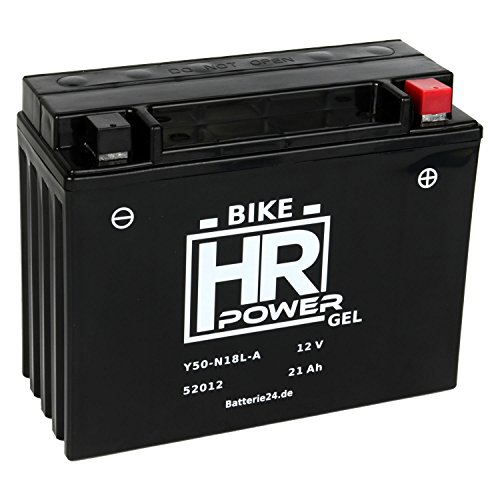 GEL Motorrad Batterie Starterbatterie 12V 21Ah Y50-N18L-A 52012 wartungsfrei