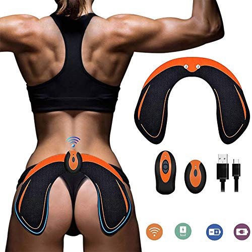 BLUE LOVE Abs Stimulator Hips Trainer,Electronic Backside Muscle Toner,Smart Training Wearable Buttock Toner Trainer for Men Women