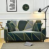 Funda de sofá Funda de sofá elástica con Estampado de Hojas Funda de sofá con Todo Incluido Funda de sofá en Forma de L con Diferentes Patrones A23 3 plazas