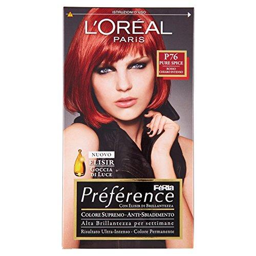 Haarfärbemittel colore permanente recital preference n p 76 pure spice rosso chiaro intenso