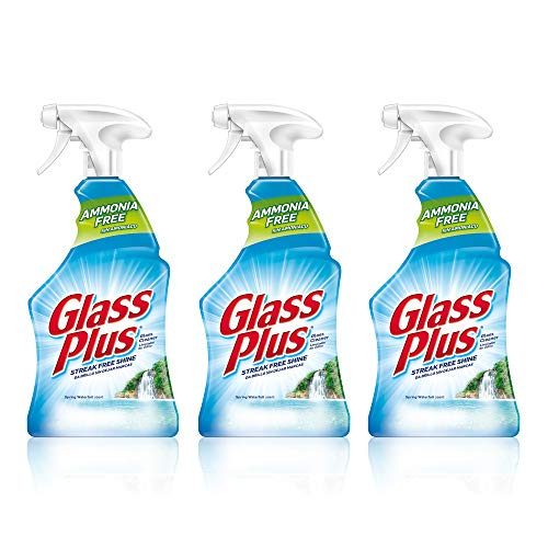 Glass Plus Glass Cleaner, Multi-Surface Glass Cleaner 32 oz (Packaging May Vary) (Pack of 3)
