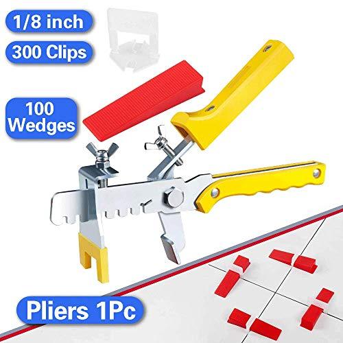 Tile Leveling System, Premium 300 pcs 1/8
