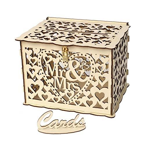 Diy Hölzerne Karten Box Rustikale Hochzeit Gastkarten Box Praktisches Werkzeug Wedding Supplies