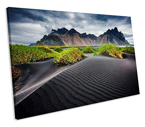 Scott397House Unframe Canvas Printing Wall Art 8x12 Iceland Stokksnes Cape Mountain Landscape Canvas Print Framed Wall Art Ready to Hang Wall Decoration for Living Room/Bed Room