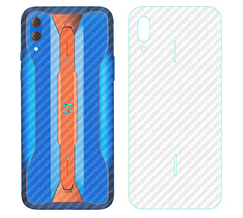 NOKOER Schutzfolie Rückseite Folie für Xiaomi Black Shark 2 Pro, [4 Stück] 0.1mm Superdünn Carbon Muster Rückseite Folie, Kratzfest Anti Fingerabdruck rutschfest