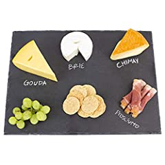 STYLISH FINISH - This Home Basics Slate Cutting Board is a stylish way to display and chop your favorite fruits, vegetables or cheese DESIGNED TO PERFECTION - Made from high quality and durable slate that is perfect for both hot and cold items FLAWLE...