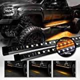 "OPT7 2pc 60"" Side Kick Running Board LED Strips w/SEQUENTIAL Amber Turn Signal"