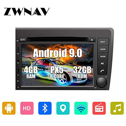ZWNAV - Navegación GPS estéreo para Volvo S60 V70 XC70 2000-2004, Europa 49 Country Mapping Player, SWC, WiFi, Bluetooth, Pantalla táctil IPS