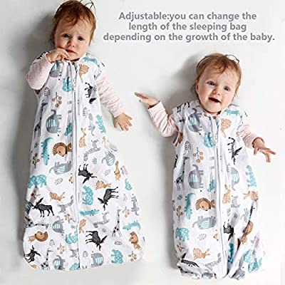 Lictin 2 Pcs Cotton Wearable Blanket Baby Sleeping Bag for 18 to 36 Month Infant