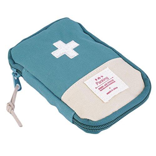 Lifesport Erste Hilfe Set, Erste-Hilfe-Koffer First Aid Kit Notfalltasche Medizinisch Tasche Klein kompakt Perfekt Design für Haus Auto Camping Jagd Reisen Natur und Sport (dunkelgrün)