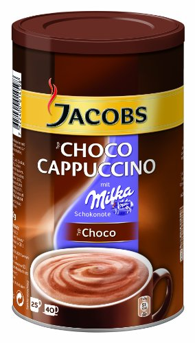 Jacobs Cappuccino Choco, 6er Pack Kaffeespezialitäten, 6 x 500 g in der Dose