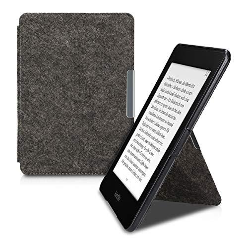 kwmobile Funda Compatible con e-Reader Amazon Kindle Paperwhite - Carcasa Estilo Origami de Fieltro (para Modelos hasta el 2017)