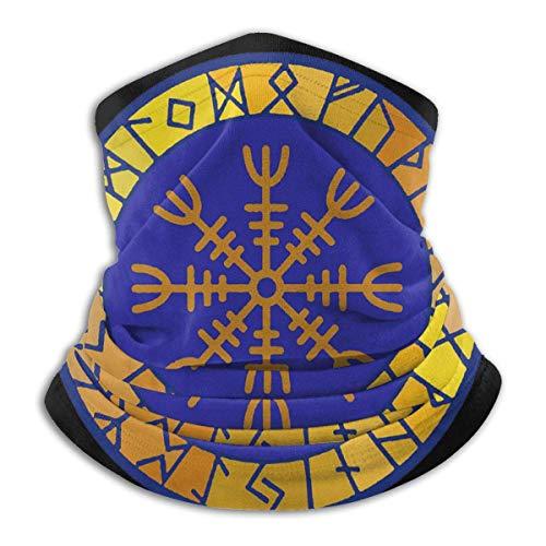 Bklzzjc Viking Nordic Helm der Ehrfurcht Symbol Unisex Winddichter Sportschal Outdoor Halswärmer Bandana Sturmhaube Kopfbedeckung