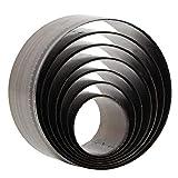 7pcs Leather Round Hole Puncher, Round Cutting Die Punching Die Set, 20mm, 25mm,...