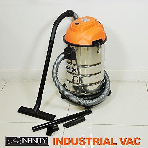 Wet Dry stofzuiger 30L VAC industrie 1000 W roestvrij staal Blow Fun-3 jaar garantie.