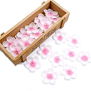 Yalulu 500Pcs Romantic Pink Rose Petals Silk Artificial Cherry Blossom Table Confetti For Home Wedding Party Decoration Fake Artificial Flower