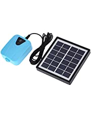 Goolsky Solar Powered/DC Charging Oxygenator Water Oxygen Pump Pond Aerator with 1 Air Stone Aquarium Airpump 2L/min