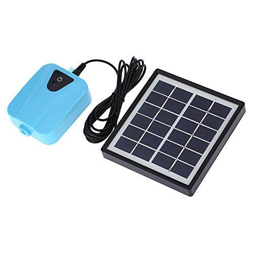 Galapara ソーラーポンプ, ソーラー充電式エアポンプ 酸素ポンプ 池の通気装置 ソーラー充電可能 1つのエアストーン水族館エアポンプ付き5v usb ポンプ