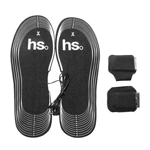 Supvox elektrische einlegesohlen schneidbare wiederaufladbare beheizbare einlegesohlen Wiederverwendbare fußwärmer Schuhe einlegesohlen für die Jagd Angeln Skifahren