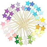 Monyus 100 Pcs Little Star Cupcake Toppers, Appetizer Decorations for Baking Dessert, Birthday Party, Christmas, Festival, Baby Shower, Bridal Shower, Wedding, Cocktail Forks Party
