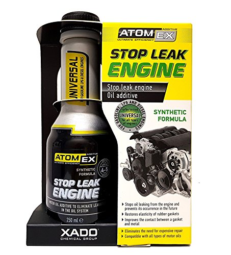 XADO ATOMEX Stop Leak Engine Oil Additive Sealer (Bottle, 250 ml) - Repair Gaskets & Seals Treatment