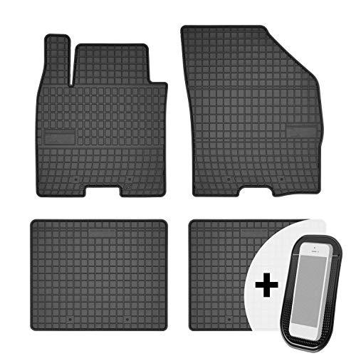 moto-MOLTICO Tapis de Voiture - 4 pièces - Tapis de Sol antidérapant pour Automobile - 100% Caoutchouc - Adapte pour: Suzuki Baleno 2015-