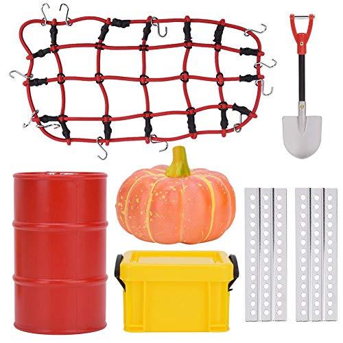 Tbest RC Auto herramientas decorativas, 6 piezas de barril de aceite caja...