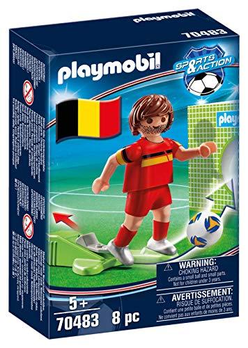 PLAYMOBIL- Sports & Action Jugador de Fútbol, Bélgica, Multicolor (70483)