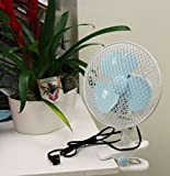 USA Premium Store 7' 2 SPEED OSCILLATING MULTI-USE FAN STAND UP, WALL MOUNT, OR CLIP ON 110v