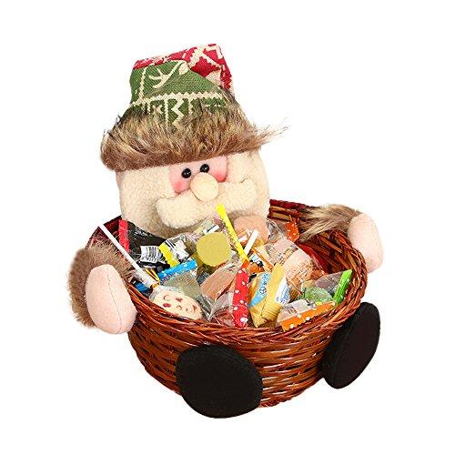 HROIJSL Weihnachts süßigkeits Korb Weihnachten Candy Ablagekorb Dekoration Weihnachtsmann Ablagekorb Geschenk