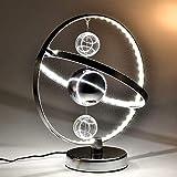 Lampara de mesa de noche y salon Decoración Hogar La creatividad LED posmoderna Mesita de luz de lámpara de escritorio, el modelado del globo, persiana de metal redondo, decoración de la lámpara...