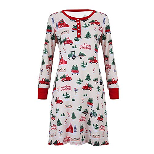 Xingsiyue Pijamas de Navidad a Juego para Familias, Niños Mamá Papá Ropa de Dormir, Xmas Homewear, Conjuntos de Ropa de Dormir para Padres e Hijos