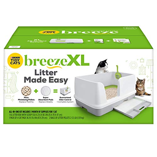 Purina Tidy Cats Non Clumping Litter System Breeze XL AllinOne Odor Control amp Easy Clean Multi Cat Box