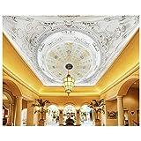Qwerlp Benutzerdefinierte 3D Fototapete Vlies Fresken Auf Europäischen Integration Deckengemälde Dekoration Kuppeltapete-200X140CM