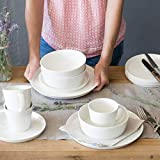 Porzellan Geschirrset 24 tlg. Svea, Weißes Geschirrservice für 6 Personen aus Fine Bone, skandinavisches Design - 5