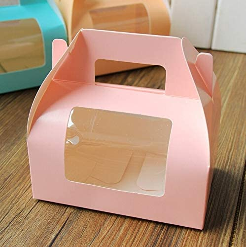 Pink Now free shipping Handle Window Credence Gift Box 30 lot