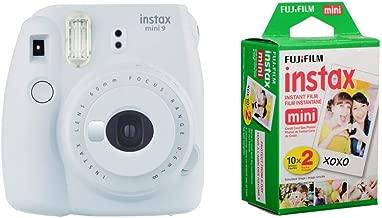 FujifilmInstax mini 9 Instant Film Camera, Smoky White With 2 Packs of Fujifilm Mini Film 10 X 2