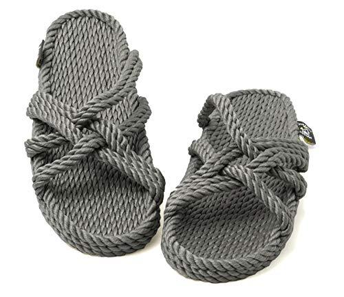 Nomadics Slip On Sandales unisexe en corde pour adulte Gris - Gris - gris, 43 EU