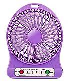US TRADERS Portable 3 Gear Speed Cooling Fan Mini USB LED Fan Li-ion Rechargeable Multifunctional Fan