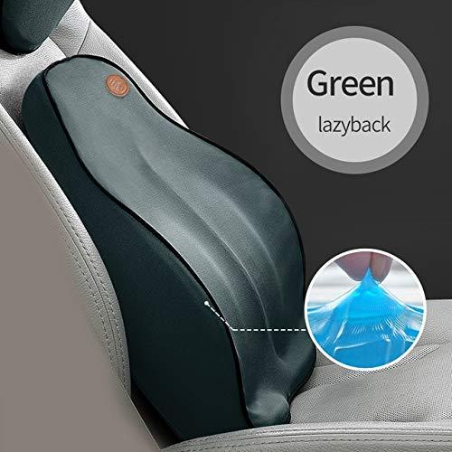 RAQ auto rugkussen auto kussen lendensteun voor bureaustoel autokussen traagschuim 3D universeel auto 1 Groen