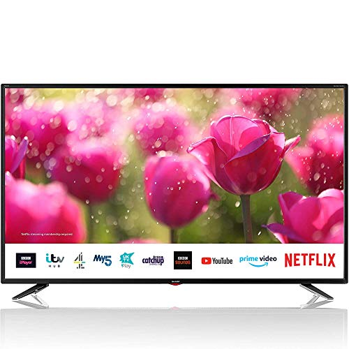 Sharp 4T-C50BJ3KF2FB (50BJ3K) 50 Inch 4K UHD HDR Smart TV with Freeview Play, 3 x HDMI, 2 x USB 2.0,...
