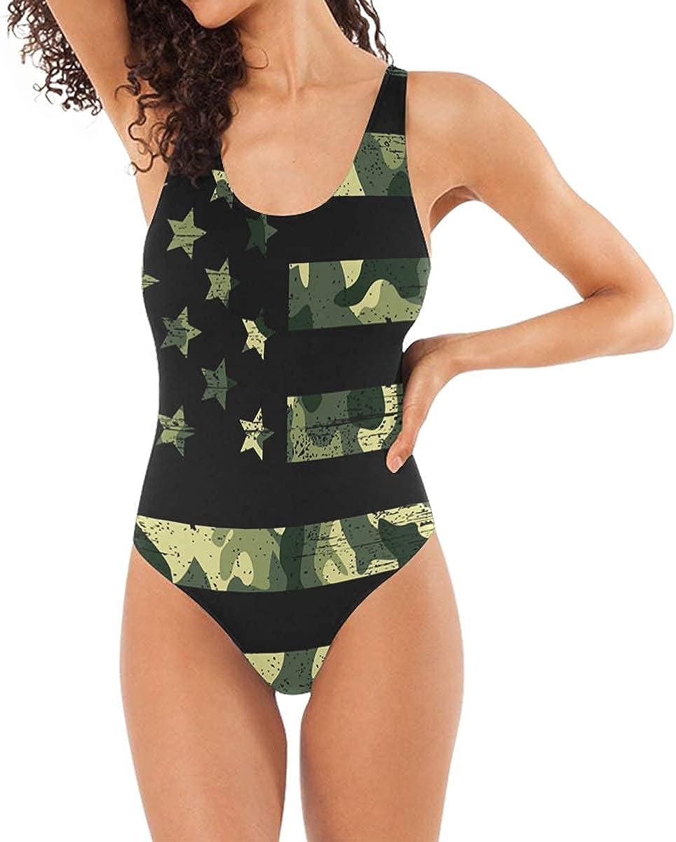 QINWEILU Women's One Piece 3D Fake Bikini Print Funny Swimsuits Bathing Suit Swimwear Monokini