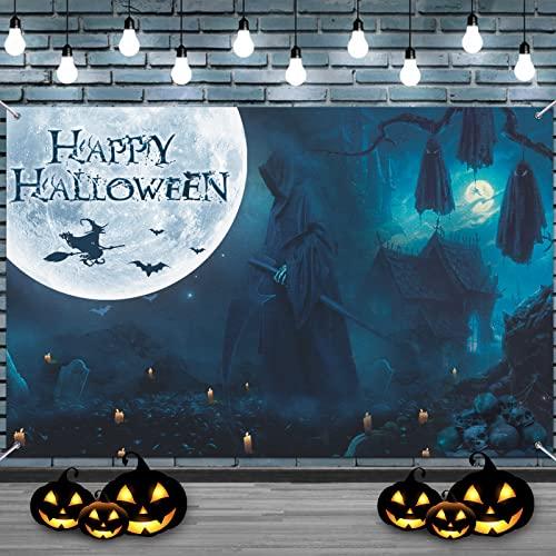 Halloween Banner, Halloween Extra Lange Banner , Großes Halloween Dekoration , Yard-Banner Halloween Hängendes Banner Veranda Zeichen für Home Decor, Hängende Flagge für Halloween Party Deko Freien