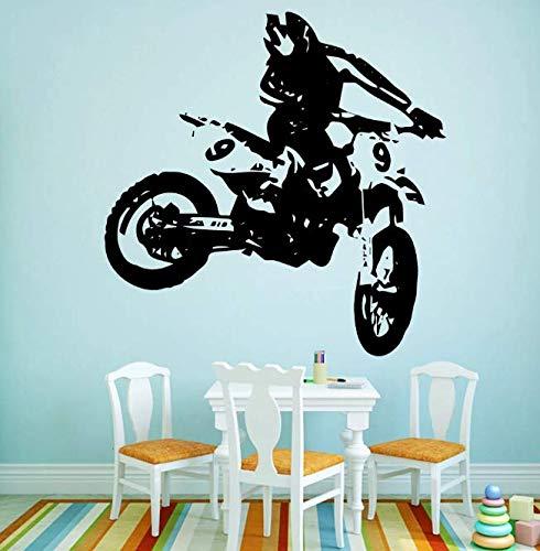 Deportes Motocicleta Vinilo Papel pintado Rollo Muebles Vinilo decorativo Arte de la pared Calcomanías Calcomanías adhesivas 58 * 58Cm