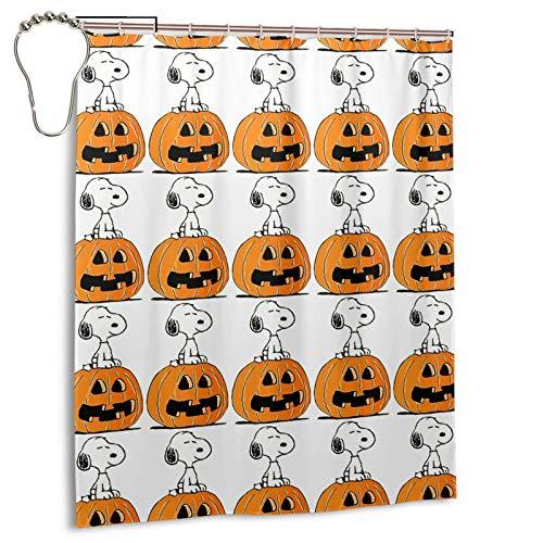 Halloween Erdnüsse Snoopy Badezimmer Duschvorhang wasserdichte Bad Trennvorhange
